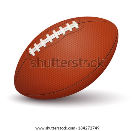 American football ball on white background - stock vector