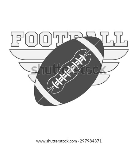 American Football Ball. Vector Illustration of sport Object - stock vector