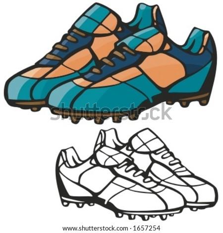 American football boots. Vector illustration - stock vector