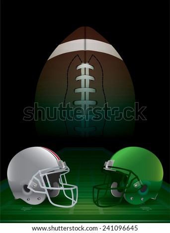 American Football college championship. Vector EPS 10. EPS file contains transparencies and a gradient mesh. - stock vector