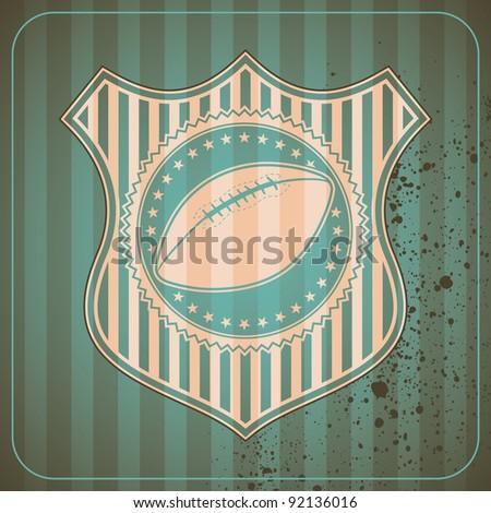 American football crest. Vector illustration. - stock vector