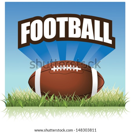 American football design element. EPS 10 vector, grouped for easy editing. No open shapes or paths. - stock vector