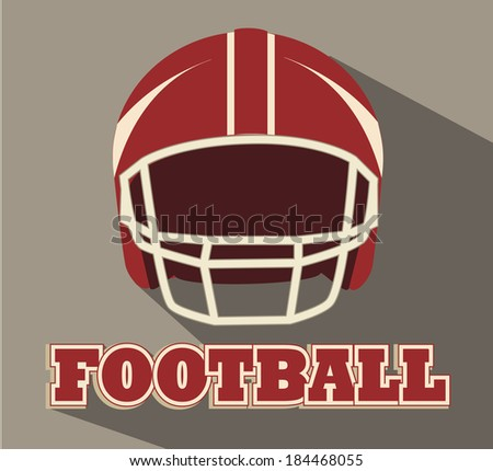 American football design over brown background, vector illustration - stock vector