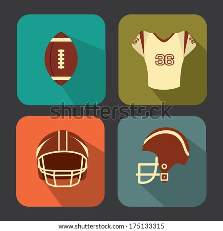 american football design over gray   background vector illustration  - stock vector