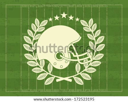 american football design over  green background vector illustration  - stock vector
