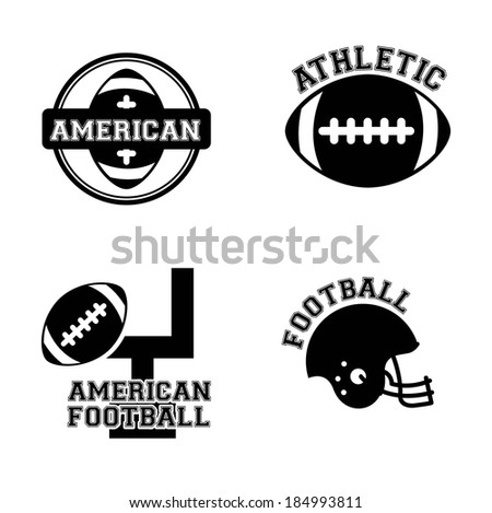 American football design over white background, vector illustration - stock vector