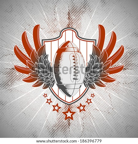American football emblem - stock vector