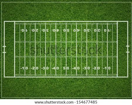 American football field - stock vector