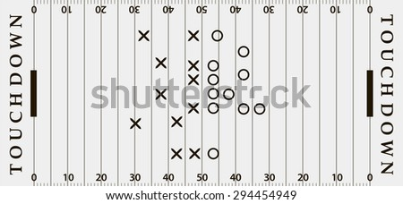 American football field background. Soccer field view from above. eps10 vector illustration in gray and black color - stock vector