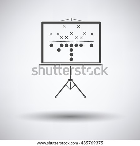 American football game plan stand icon. Vector illustration. - stock vector