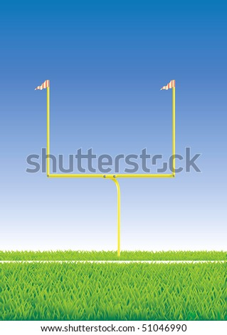 American football goal. Vector  illustration. - stock vector