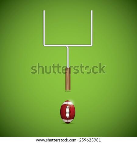 American football goalpost. Vector illustration - stock vector
