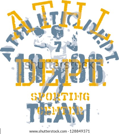 American Football - Grunge artwork for boy apparel in custom colors - stock vector