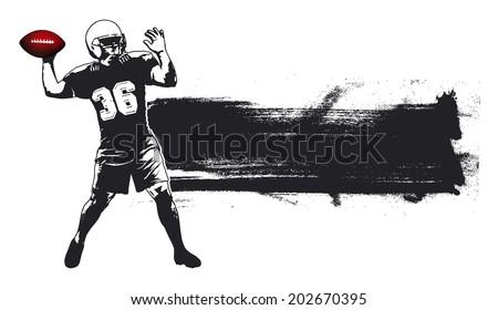 american football grunge banner - stock vector