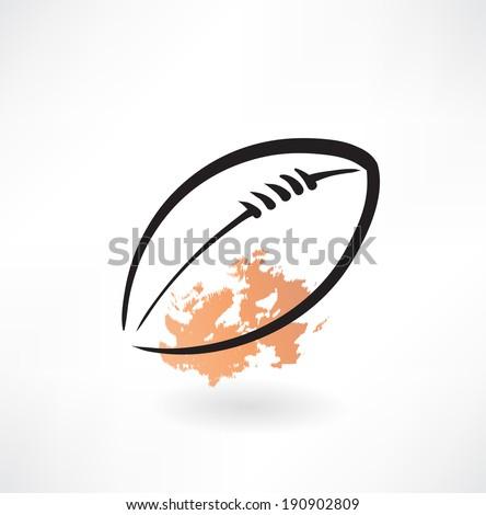 American football grunge icon - stock vector