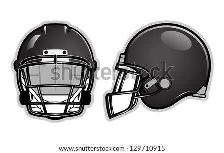 American football helmet isolated on white - stock vector