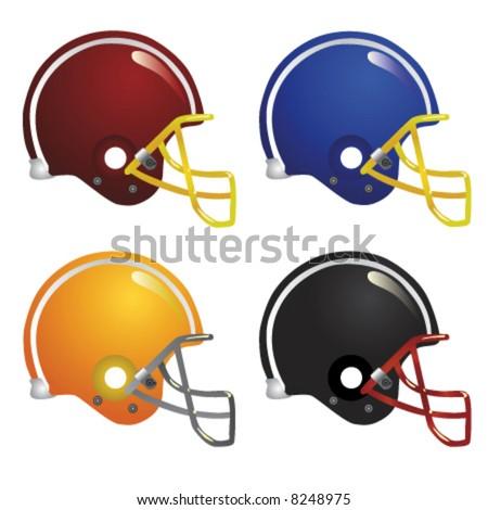 american football helmet vector - stock vector