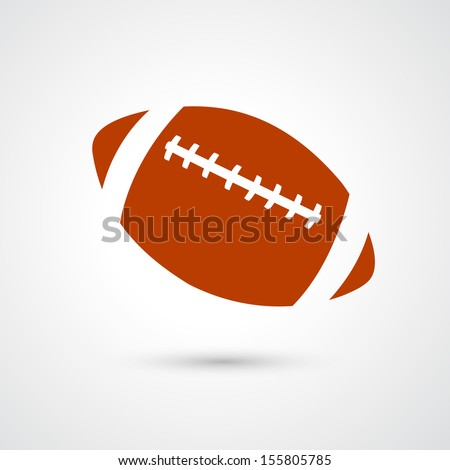 american football icon isolated on white background  - stock vector