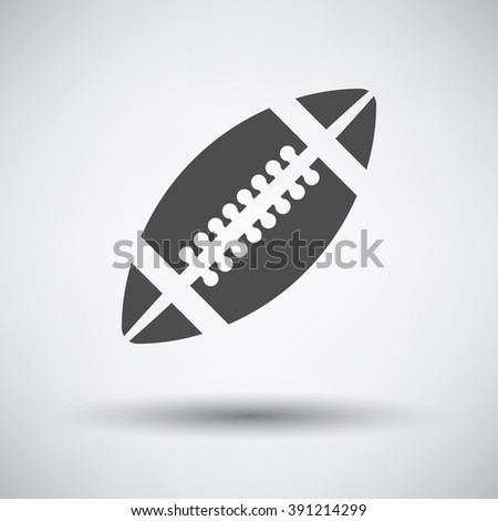 American football icon on gray background with round shadow. Vector illustration.