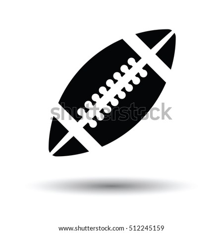 American football icon. White background with shadow design. Vector illustration.