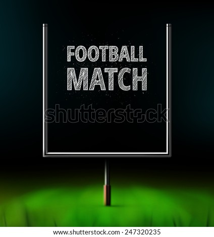 American football match, eps 10 - stock vector