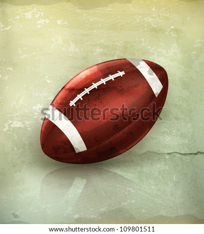 American Football, old-style vector - stock vector