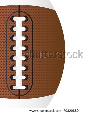 american football over white background vector. close up