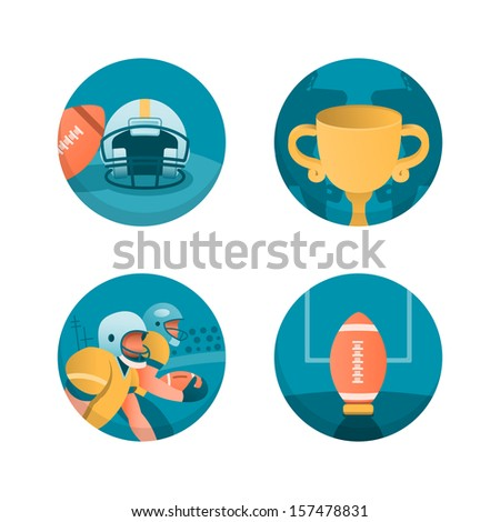 American football. Part 3 - stock vector