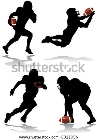 american football player vector - stock vector