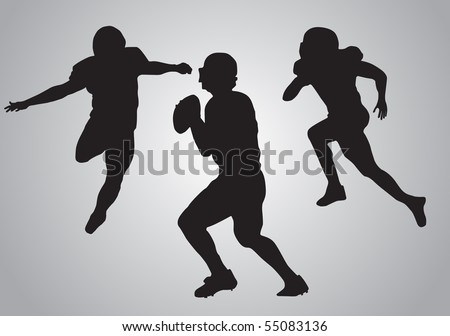 American football players - stock vector