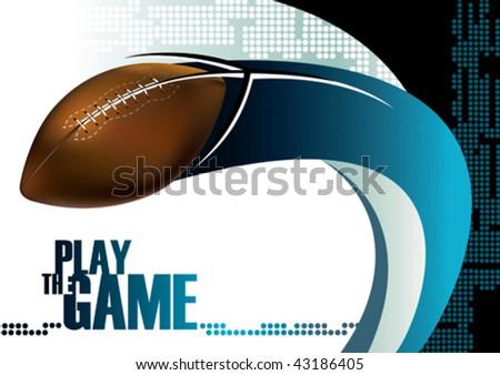 American football poster background. Vector illustration. - stock vector