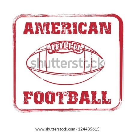 american football seal over white background. vector illustration - stock vector