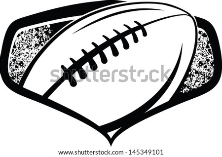 American Football Shield - stock vector