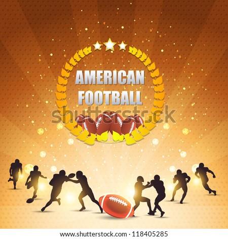 American Football Shiny Background - stock vector