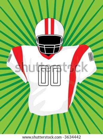 American football uniform - stock vector