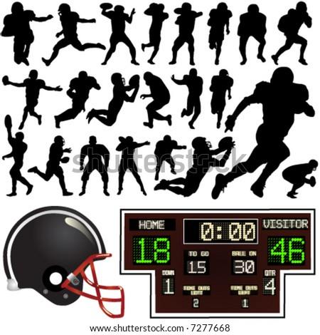 american football vector - stock vector
