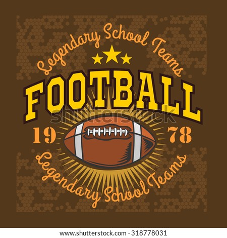 American football -  vintage vector labels for poster, t-shirt print and sportswear. - stock vector