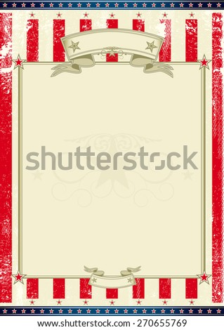 American frame. A american poster for your message. Perfect background for your publicity.... - stock vector