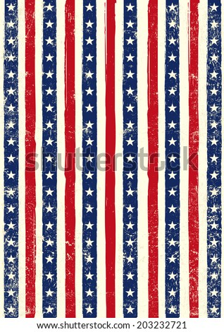 American grungy background. An american background for your event - stock vector