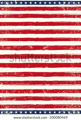 American grungy Flag. An american background for your patriotic poster - stock vector