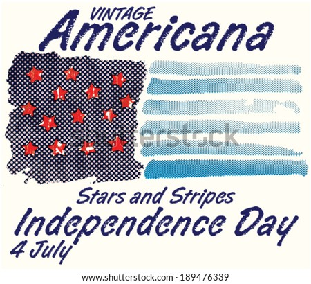 American Independence Day celebration 4th of July - stock vector