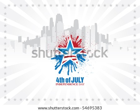 American Independence Day Design - stock vector