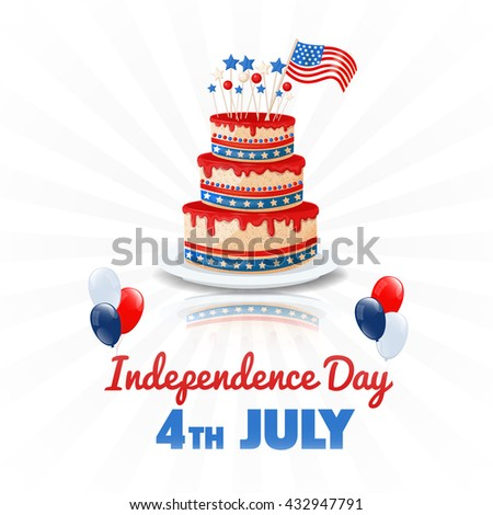 American Independence Day. 4th of July USA Holiday. Independence Day Background. American Holiday, American Flag, American Background, 4th of July, 4th of July Background.  Vector illustration. - stock vector