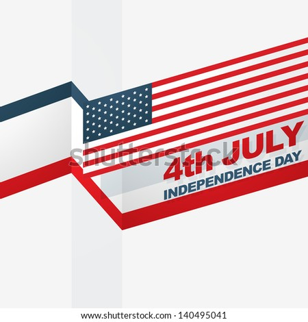 american independence day vector design - stock vector