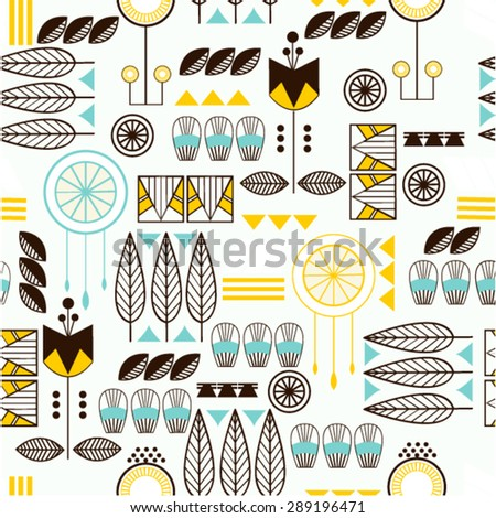 American Indian Aztec ethnic  seamless  background pattern. . Seamless pattern can be used for wallpaper, pattern fills, web page background, surface textures - stock vector