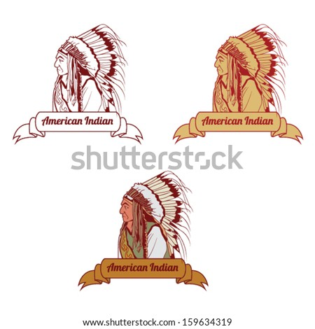 American Indian Chief Vector Illustration - stock vector