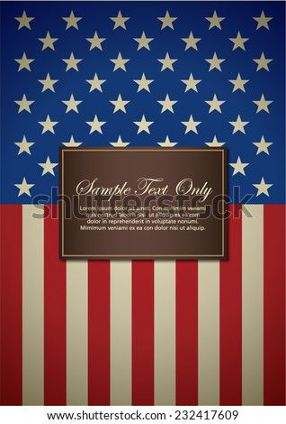 American insignia for book cover or background design template - stock vector
