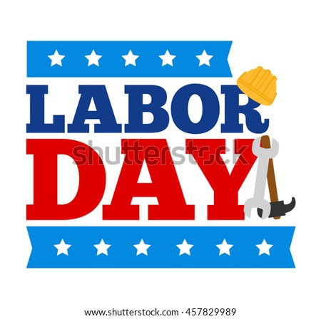 american labor day concept illustration