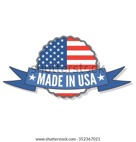 american made in usa labels - stock vector