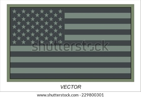American military patch - stock vector